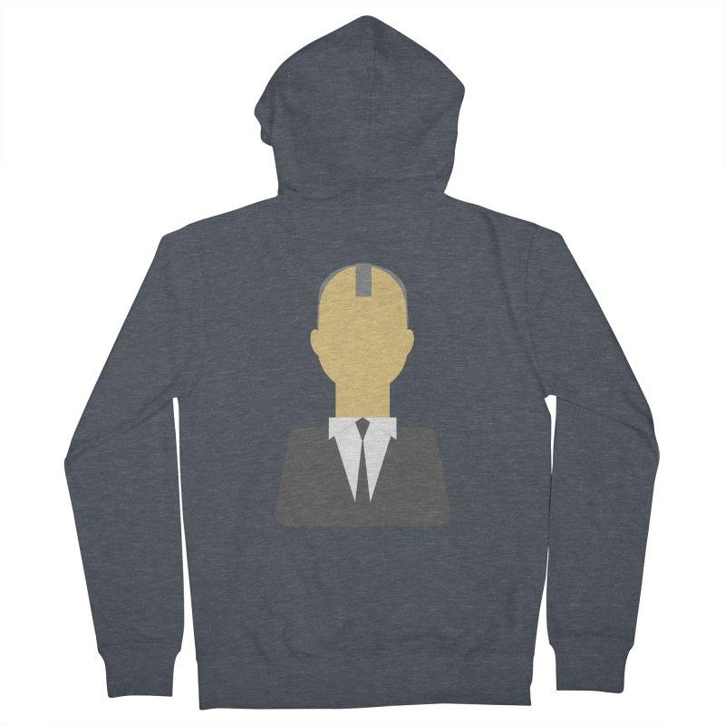 Breaking X Bald Men's Zip-Up Hoody by Parkaboy Designs