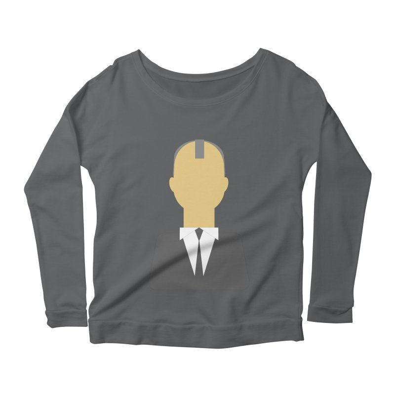 Breaking X Bald Women's Longsleeve Scoopneck  by Parkaboy Designs