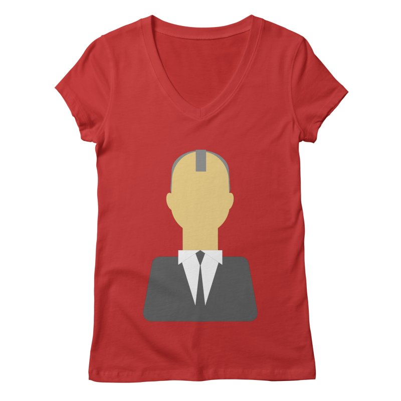 Breaking X Bald Women's V-Neck by Parkaboy Designs