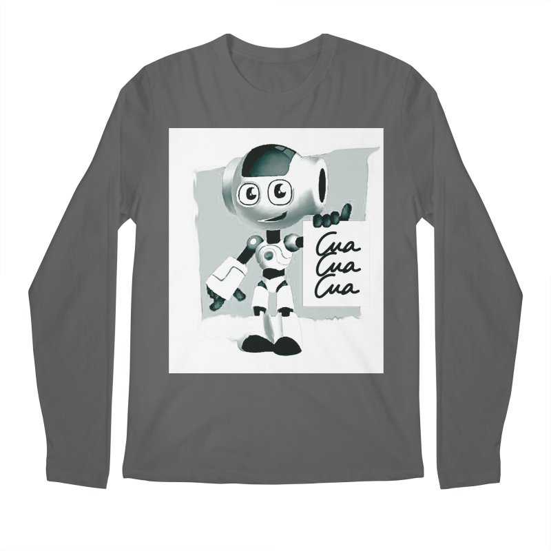 Robot CuaCuaCua Men's Longsleeve T-Shirt by Parkaboy Designs