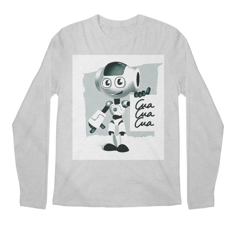 Robot CuaCuaCua Men's Longsleeve T-Shirt by Parkaboy Designs