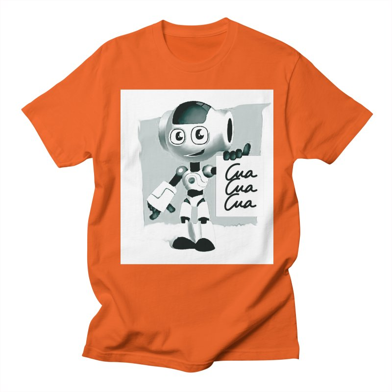 Robot CuaCuaCua Men's Regular T-Shirt by Parkaboy Designs