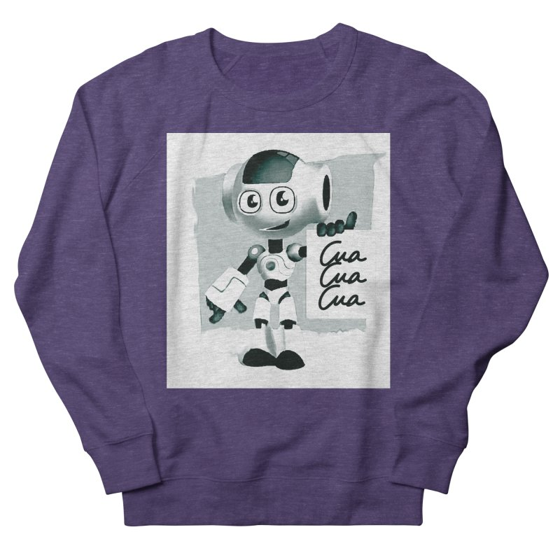 Robot CuaCuaCua Men's French Terry Sweatshirt by Parkaboy Designs