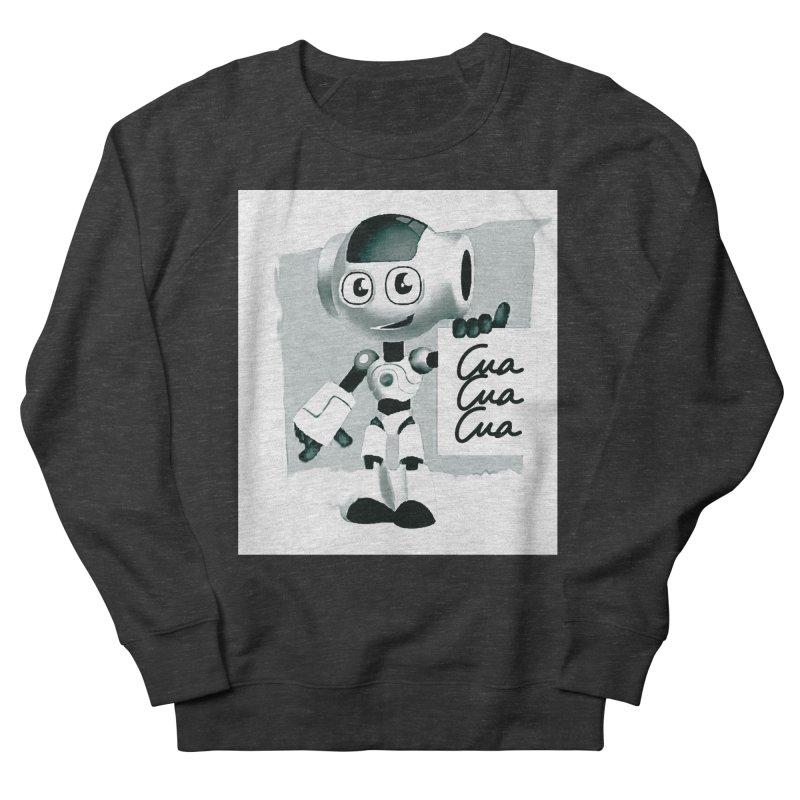 Robot CuaCuaCua Men's Sweatshirt by Parkaboy Designs