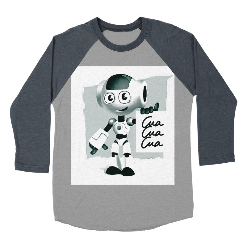 Robot CuaCuaCua Women's Baseball Triblend T-Shirt by Parkaboy Designs