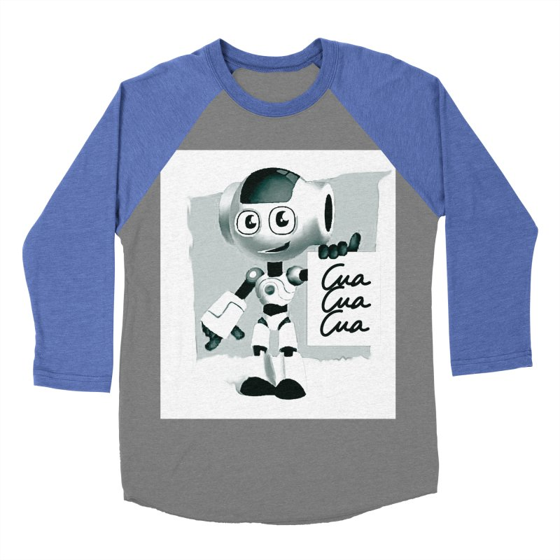 Robot CuaCuaCua Men's Baseball Triblend T-Shirt by Parkaboy Designs