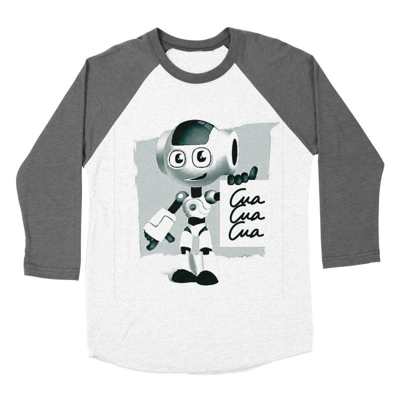 Robot CuaCuaCua Men's Baseball Triblend T-Shirt by Parkaboy Designs