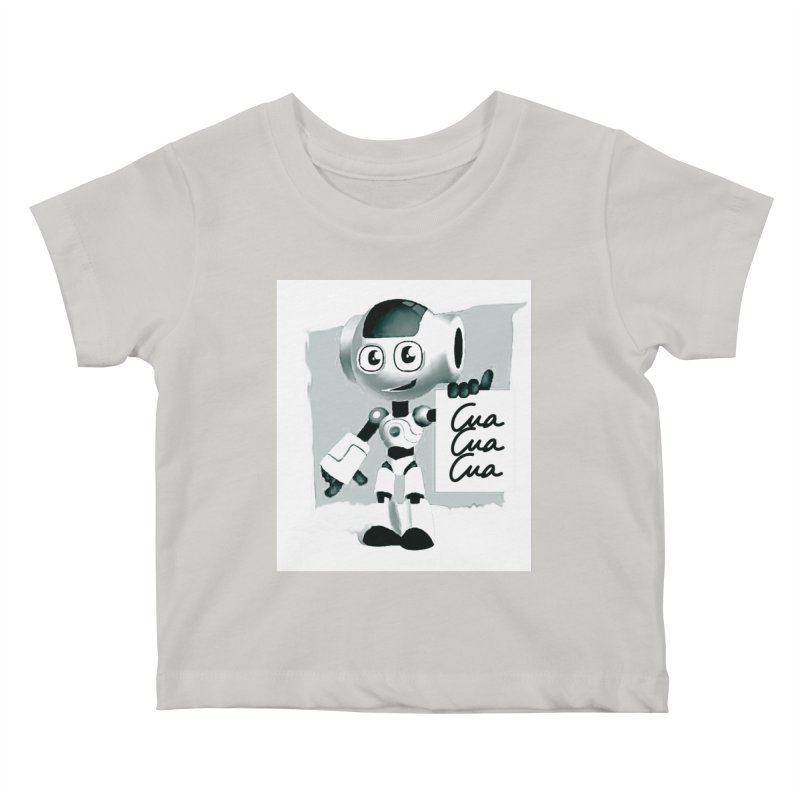 Robot CuaCuaCua Kids Baby T-Shirt by Parkaboy Designs