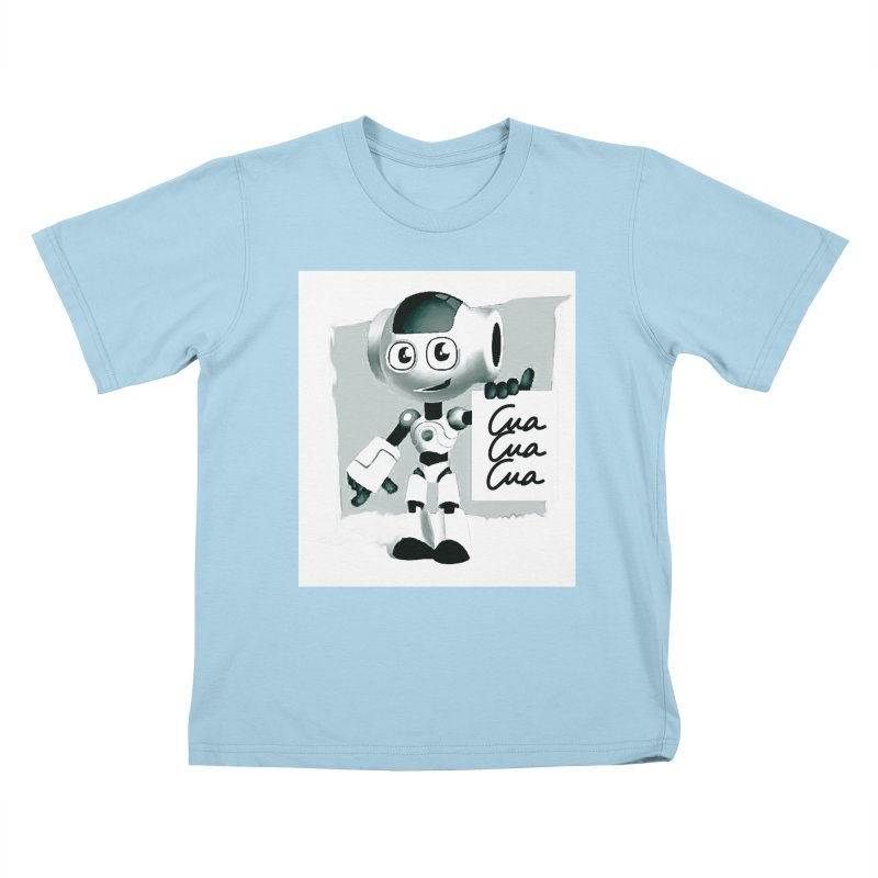 Robot CuaCuaCua Kids T-Shirt by Parkaboy Designs