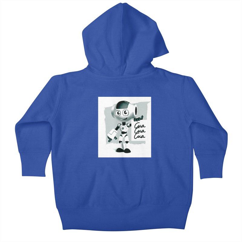 Robot CuaCuaCua Kids Baby Zip-Up Hoody by Parkaboy Designs