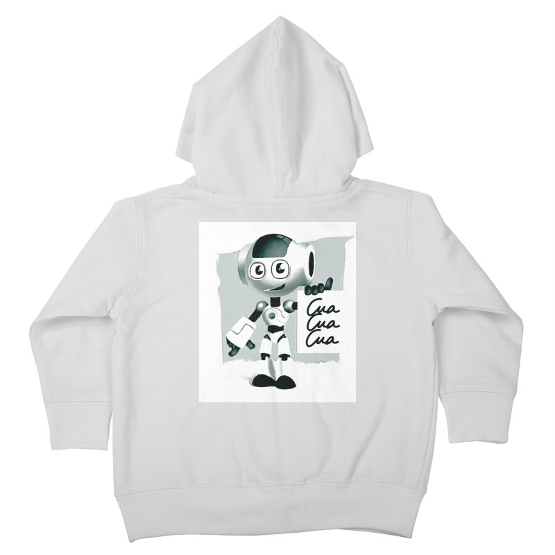 Robot CuaCuaCua Kids Toddler Zip-Up Hoody by Parkaboy Designs