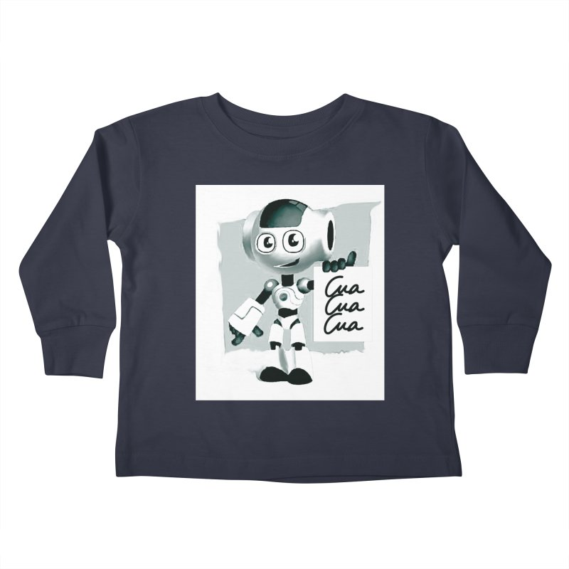Robot CuaCuaCua Kids Toddler Longsleeve T-Shirt by Parkaboy Designs