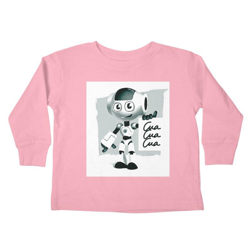 Robot CuaCuaCua Kids Toddler Longsleeve T-Shirt by Parkaboy Designs