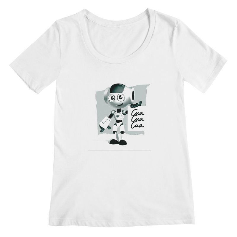 Robot CuaCuaCua Women's Scoopneck by Parkaboy Designs