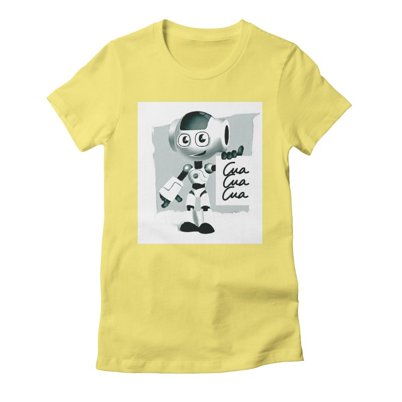Robot CuaCuaCua Women's Fitted T-Shirt by Parkaboy Designs