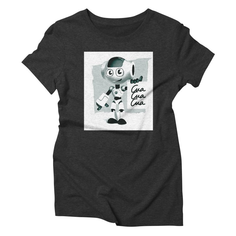 Robot CuaCuaCua Women's Triblend T-Shirt by Parkaboy Designs