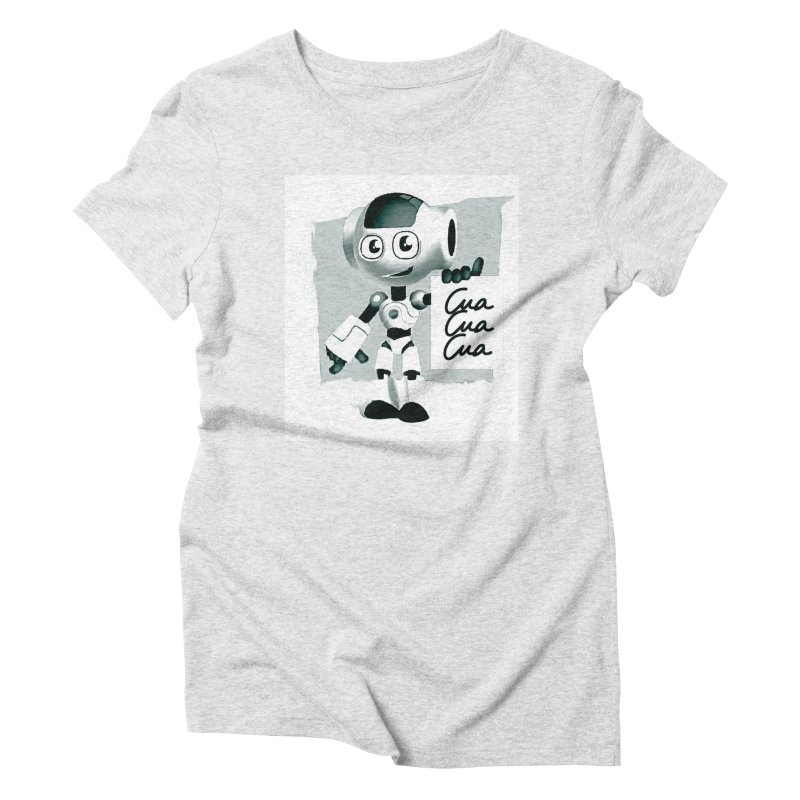 Robot CuaCuaCua Women's Triblend T-shirt by Parkaboy Designs