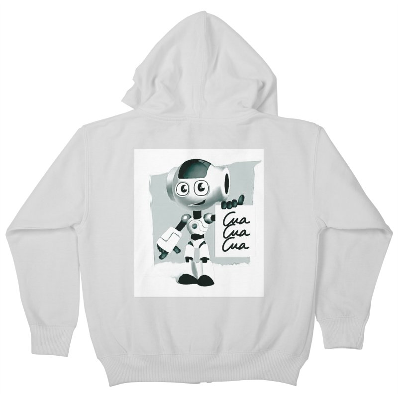 Robot CuaCuaCua Kids Zip-Up Hoody by Parkaboy Designs