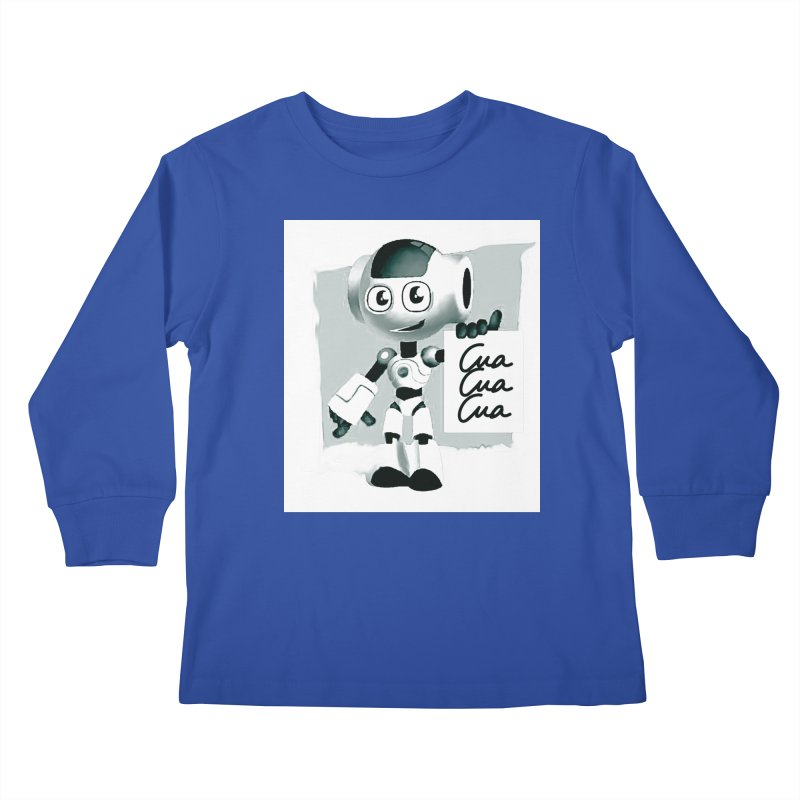 Robot CuaCuaCua Kids Longsleeve T-Shirt by Parkaboy Designs