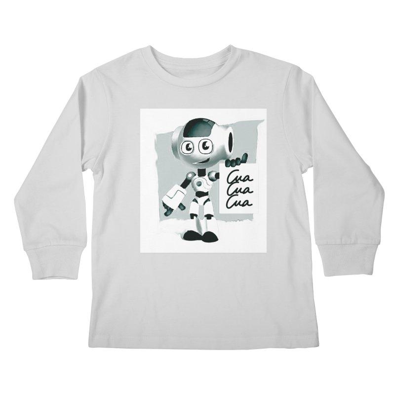 Robot CuaCuaCua Kids Longsleeve T-Shirt by Parkaboy Designs
