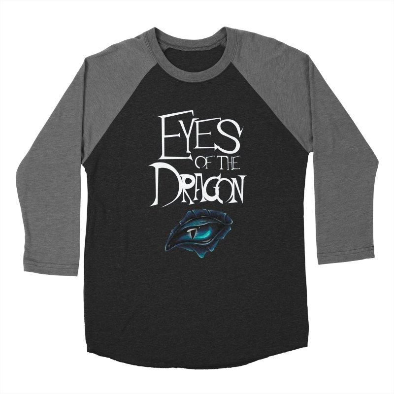 Dragon Eyes Men's Baseball Triblend T-Shirt by Parkaboy Designs