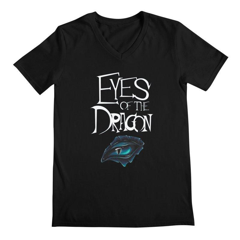 Dragon Eyes Men's V-Neck by Parkaboy Designs