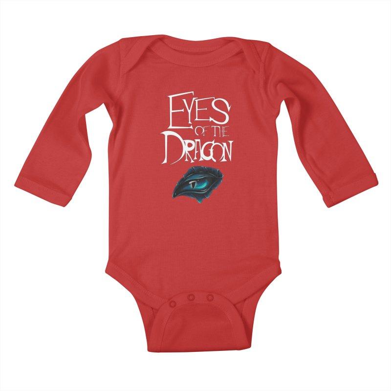 Dragon Eyes Kids Baby Longsleeve Bodysuit by Parkaboy Designs