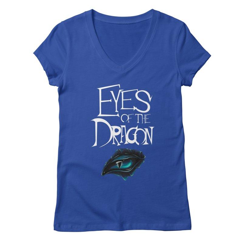 Dragon Eyes Women's V-Neck by Parkaboy Designs