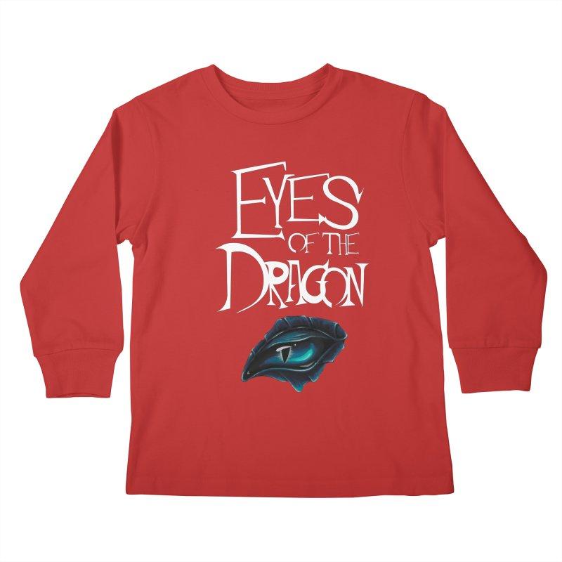 Dragon Eyes Kids Longsleeve T-Shirt by Parkaboy Designs