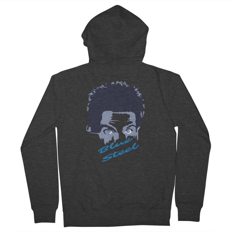 Blue Steel Sight Men's Zip-Up Hoody by Parkaboy Designs