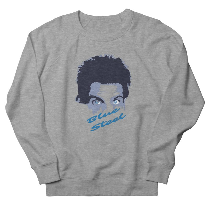 Blue Steel Sight Men's French Terry Sweatshirt by Parkaboy Designs