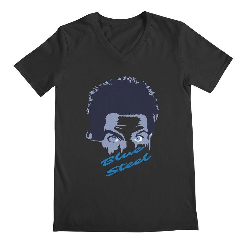 Blue Steel Sight Men's V-Neck by Parkaboy Designs