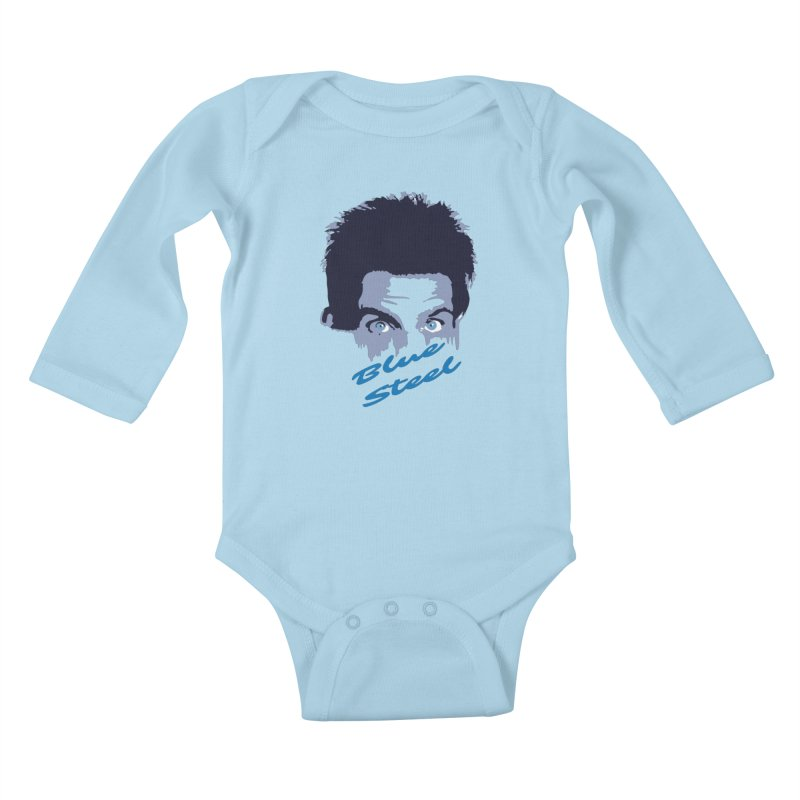 Blue Steel Sight Kids Baby Longsleeve Bodysuit by Parkaboy Designs