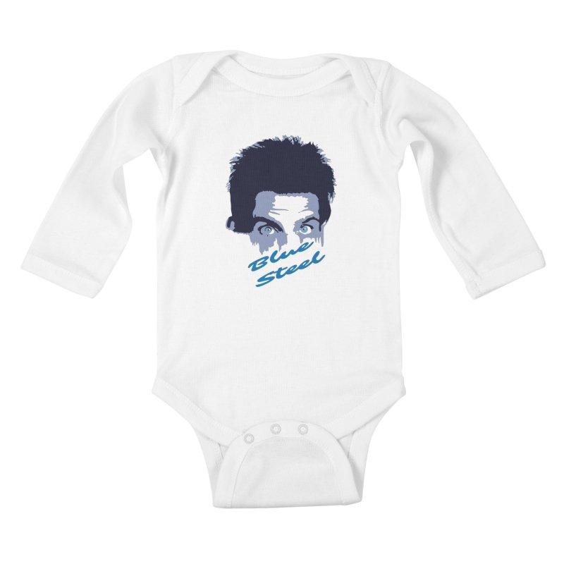 Blue Steel Sight Kids Baby Longsleeve Bodysuit by Parkaboy Designs