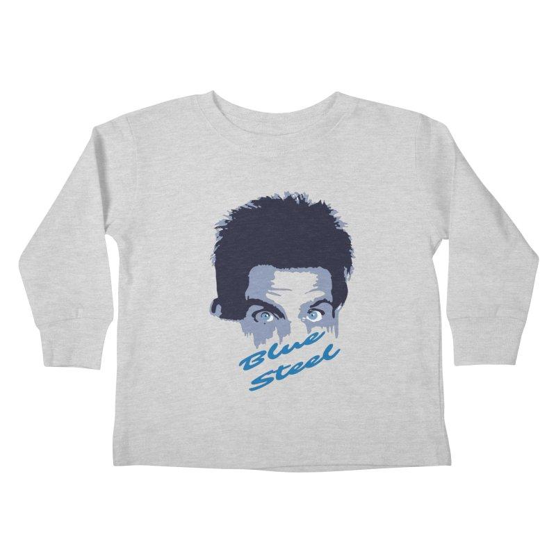 Blue Steel Sight Kids Toddler Longsleeve T-Shirt by Parkaboy Designs