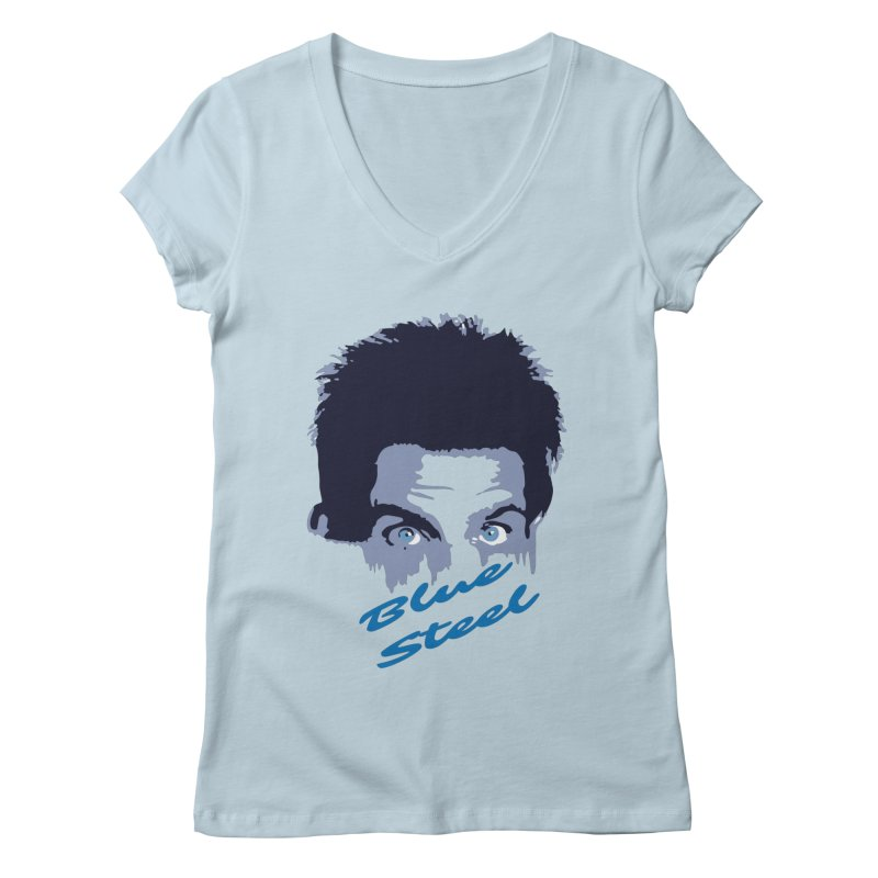 Blue Steel Sight Women's V-Neck by Parkaboy Designs