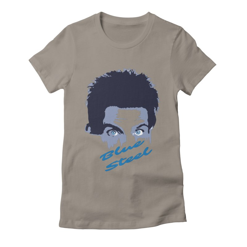 Blue Steel Sight Women's Fitted T-Shirt by Parkaboy Designs