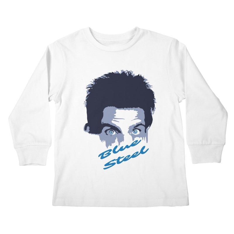 Blue Steel Sight Kids Longsleeve T-Shirt by Parkaboy Designs