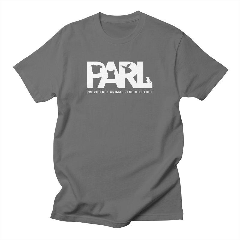 PARL Logo - White Men's T-Shirt by Providence Animal Rescue League Merchandise