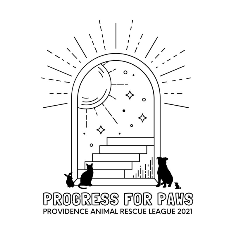 Progress for Paws Official T-Shirt Men's T-Shirt by Providence Animal Rescue League Merchandise
