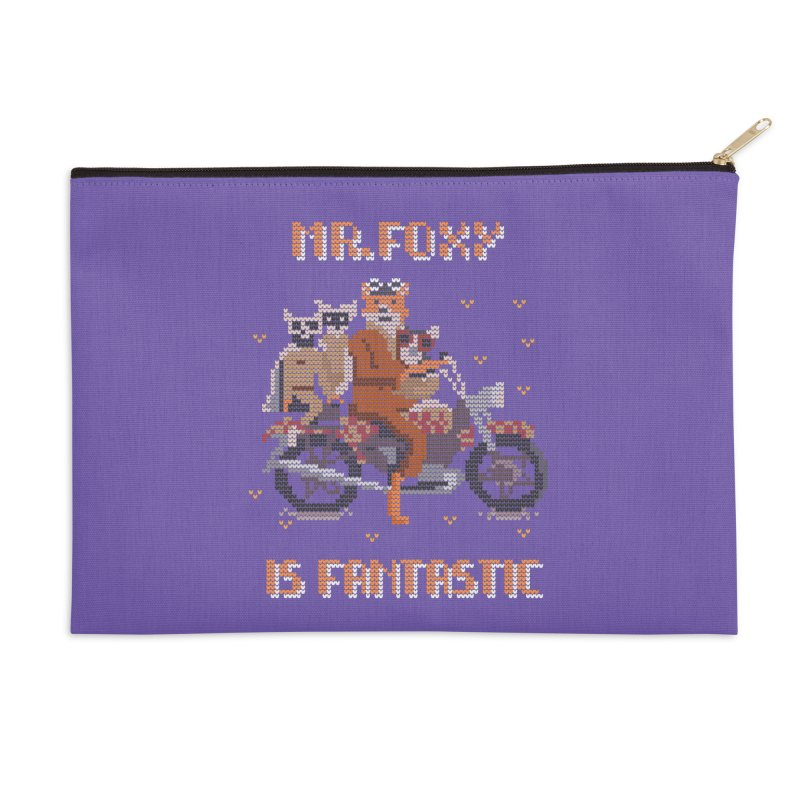Mr Foxie is Fantastic! Accessories Zip Pouch by The Cool Orange