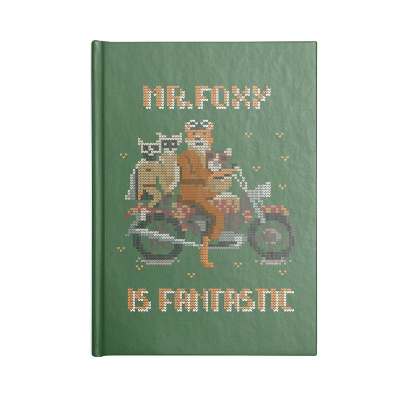 Mr Foxie is Fantastic! Accessories Lined Journal Notebook by The Cool Orange