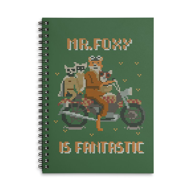 Mr Foxie is Fantastic! Accessories Lined Spiral Notebook by The Cool Orange