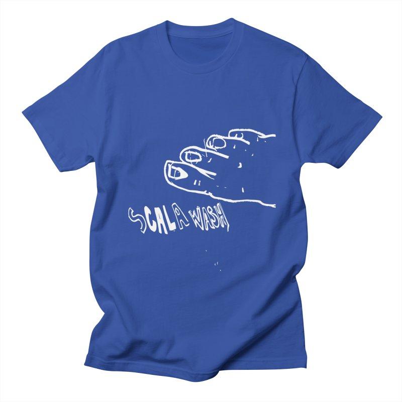 White scala wash feet Men's Regular T-Shirt by particulescreatives's Artist Shop