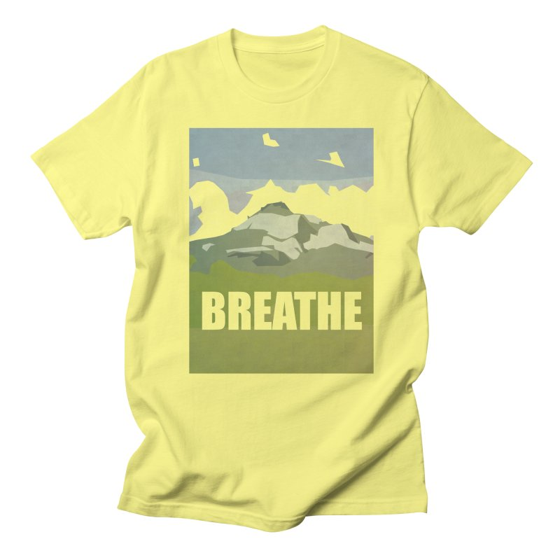 Breathe Men's Regular T-Shirt by particulescreatives's Artist Shop