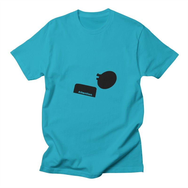 Attention Men's Regular T-Shirt by particulescreatives's Artist Shop
