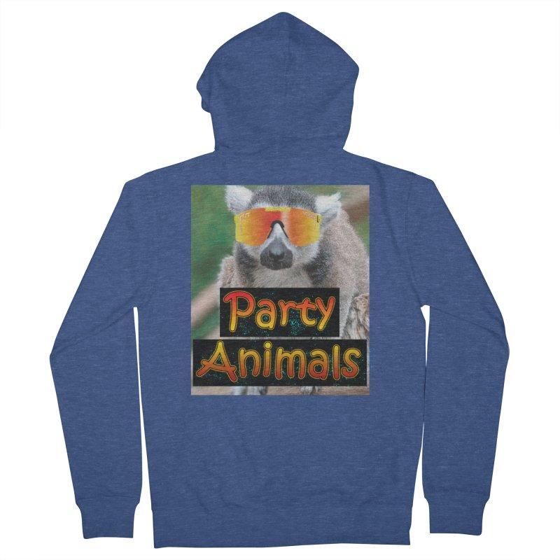 Party Animals Men's Zip-Up Hoody by partyanimalstv's Artist Shop