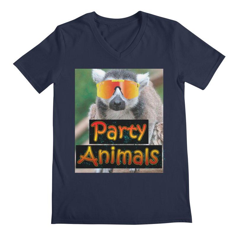 Party Animals Men's V-Neck by partyanimalstv's Artist Shop