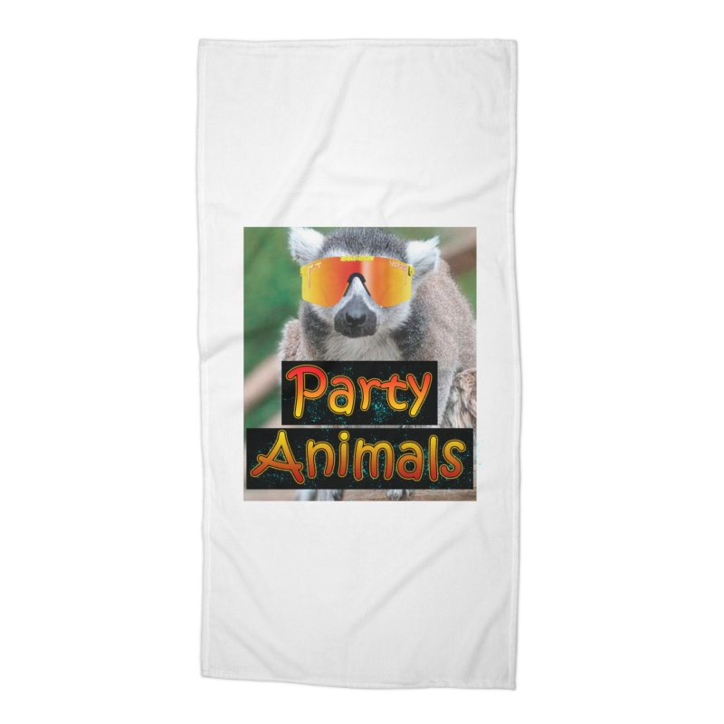 Party Animals Accessories Beach Towel by partyanimalstv's Artist Shop