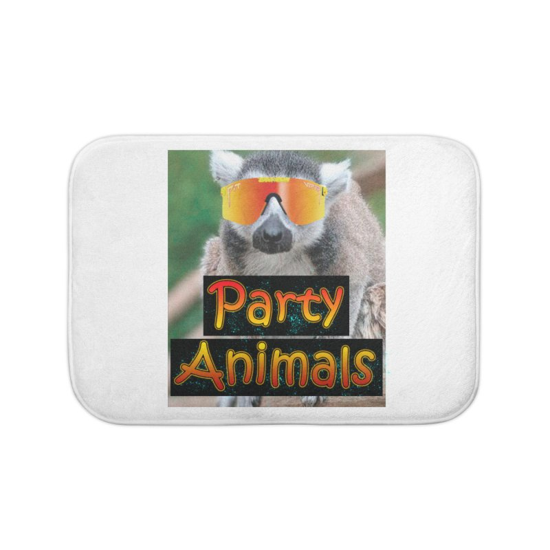 Party Animals Home Bath Mat by partyanimalstv's Artist Shop